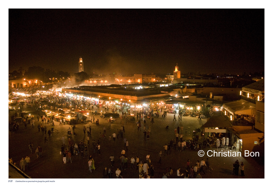 Place Djemaa el Fna à Marrakech