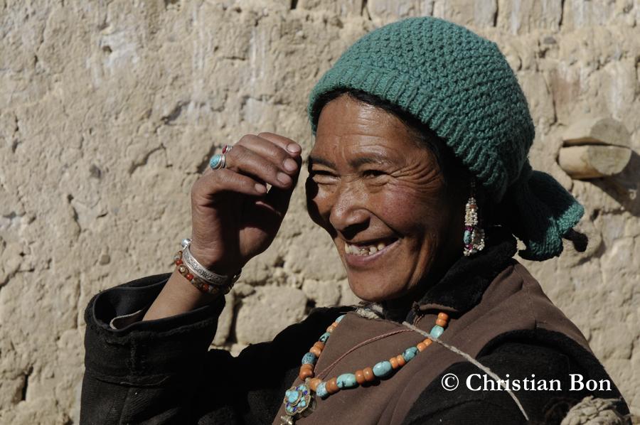Paysanne du village de Rinam au Zanskar