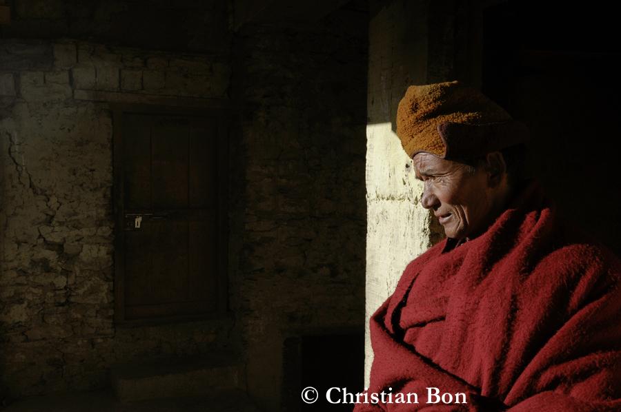 Moine du monastère de Karsha
