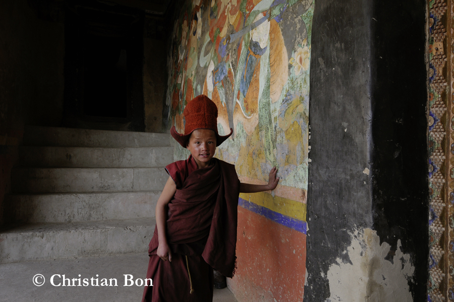 Moinillon au monastère de Karsha