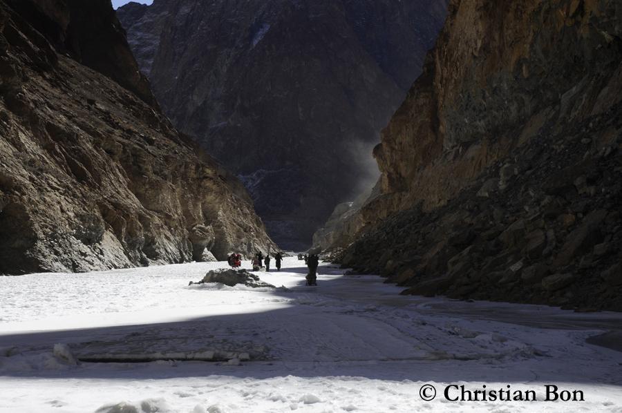 Rivière gelée au Zanskar